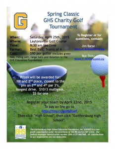 GHS 2nd Charity Golf Tournament